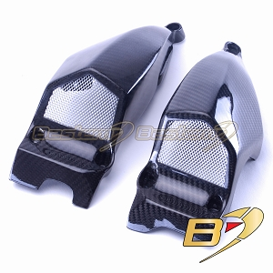 Ducati Streetfighter 848 100% Carbon Fiber Air Intake Covers 2, Twill