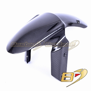 2009 - 2018 Kawasaki ZX6R Carbon Fiber Front fender Mud Guard Fairing Twill