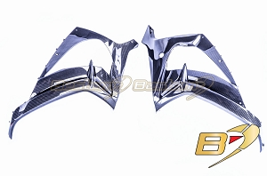 2016 - 2019 Kawasaki ZX10R  100% Carbon Fiber Side Fairings Twill Weave Pattern
