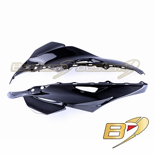 2016-2019 ZX-10R Upper Side Nose Headlight Cover Panel Cowl Fairing Carbon Fiber Twill Weave
