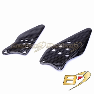 Kawasaki ZX6R 2007 - 2008 100% Carbon Fiber Heel Guards