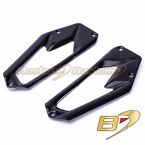 Kawasaki Z800 2013 100% Carbon Fiber Heel Guards