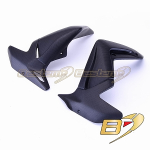 MV Agusta Brutale 1090/990/920 100% Carbon Fiber Water Radiator Cover Frames, Matte Finish