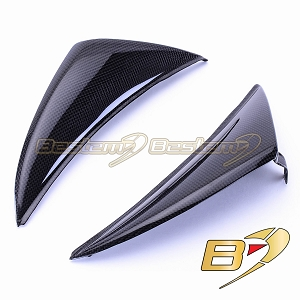 Yamaha YZF R1 2009 - 2014 Side Headlight Trim Upper Nose Fairing Cowling / Dash Panels Carbon Fiber