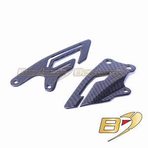Yamaha R1 2015 - 2019  100% Carbon Fiber Heel Guards, Twill Weave Pattern