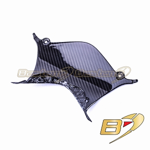 2015 - 2019 Yamaha R1 R1M R1S Tail Center Panel Cover Rear Seat Twill 100% Carbon Fiber, Twill Weave Pattern