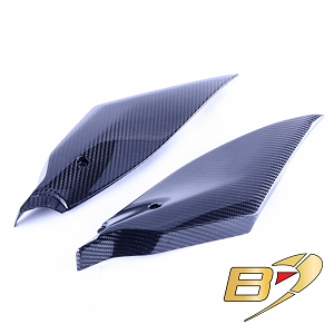 2017-2020 Yamaha R6 Carbon Fiber Tank Side Panels Fairing Twill Weave