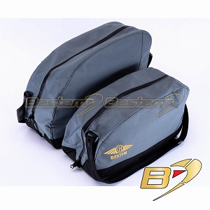 BMW R1200CL R1200 CL Saddlebag Sideliners Side Case Trunk Liners Bags, Black/Green - Pair