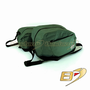 BMW R1200CL R1200 CL Saddlebag Sideliners Side Liners, Green/Black with White Logo - Pair