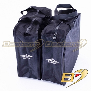 Harley Davidson Heritage Softail Saddlebag Sideliners Side Case Trunk Liners Bags, Black - Pair