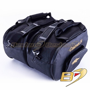 Kawasaki Concours 14 GTR1400 Saddlebag Sideliners Side Case Tunk Liners Bags, Deluxe, Black With Padded Walls for Extra Protection - Pair