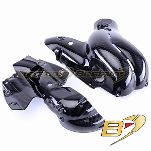 Ducati V4 Panigale 100% Carbon Fiber Exhaust Cover Heat Shield Fairing, 2018