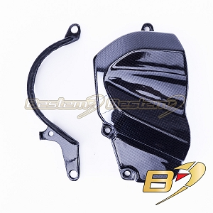 2006 2007 ZX-10R Side Sprocket Cover Carbon Fiber