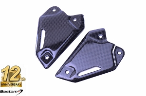 Kawasaki Z900 2017 100% Carbon Fiber Heel Guards Rearset Foot Peg Mount Plate