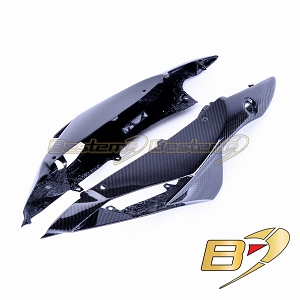 2011-2018 GSX-R 600 750 Rear Tail Side Seat Cover Trim Cowl Fairing Carbon Fiber Twill Weave Pattern