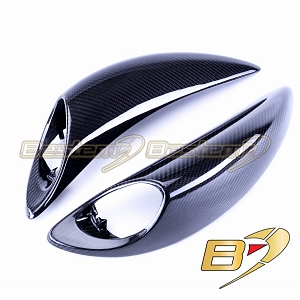 Suzuki GSX1300R GSXR 1300 Hayabusa 2008 - 2017 100% Carbon Fiber Rear Side Panels Twill Weave