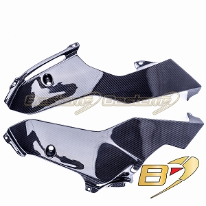 2017-2020 Yamaha R6 Carbon Fiber Lower Side Fairings Oil Belly Pan Guard Panels  Twill Weave