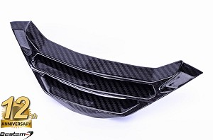 BMW S1000R 2017 - 2018  100% Carbon Fiber Radiator Water Cooler Cover Lower, Twill