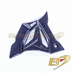 2020+ BMW S1000RR  Carbon Fiber Sprocket Cover, Twill Weave Pattern