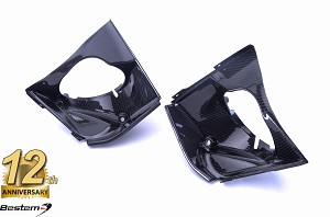 EBR 1190 RX SX 100% Carbon Fiber Radiator Outlet Ducts Left+Right Side, Twill Weave Pattern