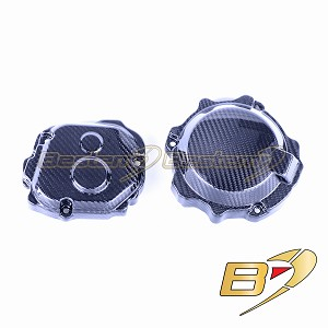 2016-2019 Kawasaki ZX10R Carbon Fiber Alternator Stator Case Cover+Timing cover Twill