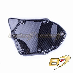 2006-2020 Yamaha R6 Oil Pump Crank Case Protector Guard Cover Cowl Carbon Fiber Twill Weave Pattern