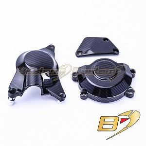 2017-2020 Yamaha R6 Carbon Fiber Engine Generator Stator Crankcase Oil Pump Clutch Covers, 3 pieces
