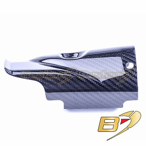 2017-2020 Yamaha R6 Carbon Fiber Exhaust Cover Twill Weave