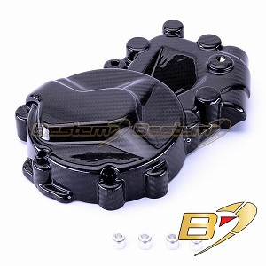 2009-2018 BMW S1000RR HP4 100% Carbon Fiber Left side Engine Alternator Stator Cover Crash Guard Twill Weave