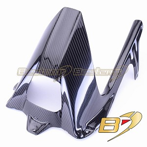 BMW S1000RR HP4 2009 - 2018 S1000R 2014 - 2018 Carbon Fiber Rear Hugger with Chain Guard, Twill