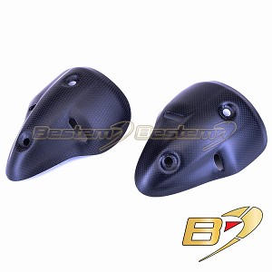 Ducati Monster 696 1100 100% Carbon Fiber Rear Exhaust Cover, Matte Finish