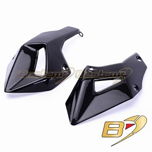 Ducati Multistrada 1200 2010-2013 100% Carbon Fiber Belly Pans (L+R)