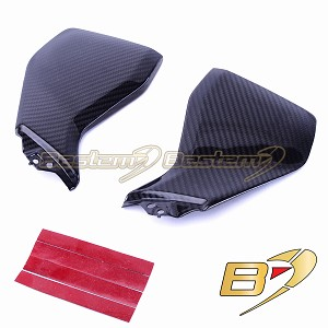 2014-2016 Yamaha FZ-09/MT-09 100% Carbon Fiber Tank Side Covers, Twill Weave Pattern