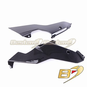 Yamaha R6 2017 2020 Carbon Fiber Lower Side Fairings Oil Belly Pan Guard Panels