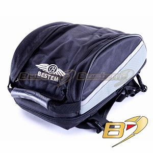 Bestem Motorcycle Expandable Seat Tail Bag, Black