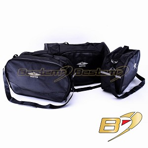 2012-2017 Honda Gold Wing GL1800  Saddlebag Sideliners Side Case Trunk Liners and Top Box Case Liner Set , 3PCS, Black